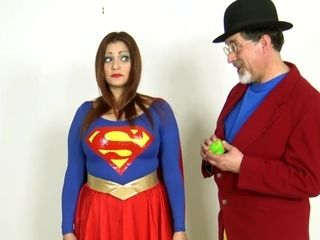 Supergirl All packaged Up - restrain bondage costume play