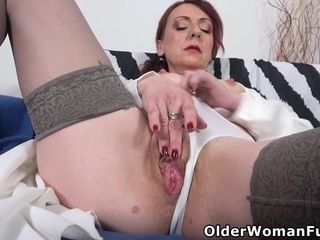 Busty mature milf Coco fucks herself with a dildo