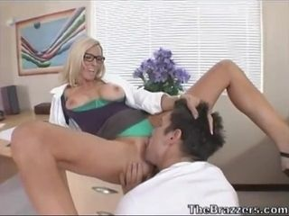 Lustful Doctor Emma Starr and Shy Dude with big cock