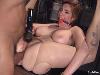 Good-sized titties sandy-haired mummy I´d Like To bang anal invasion fucked