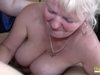 OldnannY huge-boobed chubby Matures frolicking with salami