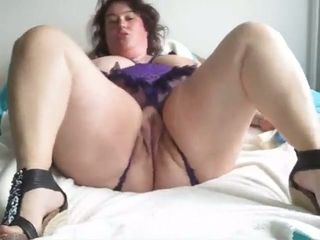 This BBW is just right for black cock and she loves masturbating