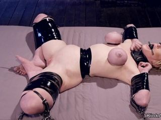 Big-Breasted Housewife in restrain bondage flagellated and clapmed