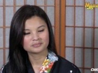 """""""Chicas Loca - Small Tits Asian Babes Share a Big Black Dildo - MamacitaZ"""""""