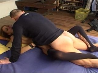 Naughty skinny MILF hard porn video