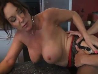 Scorching mature copulating in the kitchen