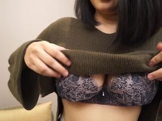 Cock sucking and shagging with busty Jav mom