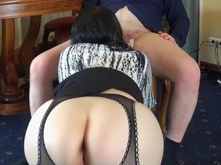 Russian secretary sex with the boss in the office