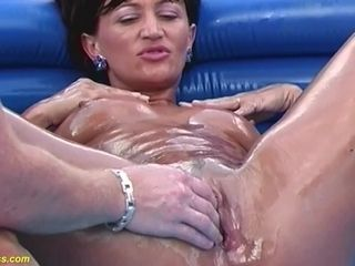 extreme rough oiled fisting with my horny stepmom
