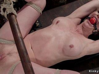 Mummy I´d Like To drill sadomasochist flogged in hog-tie