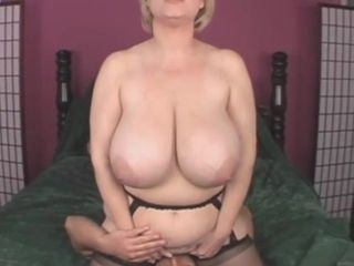 Big-boobed light-haired mature mummy Samantha 38G shagged in inexperienced flick