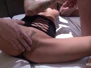 German Wife Suprise with Amateur Threesome by own Husband