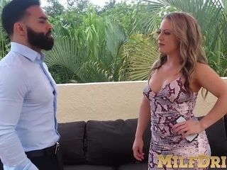 Delectable mature slut enjoys fucking with young bearded men