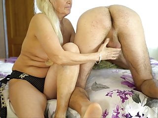 Grandma Loves Sensual Oil massage with younger boys. Gilf Vs Young