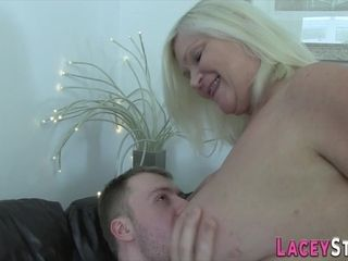Busty Tits grandma suck and riding 12min720p - handjob