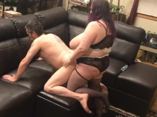 Giving my ass to the wife's big strapon cock for a hard deep pegging