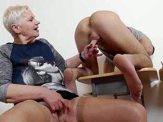 Older Female Teacher Punishes Handsome Guy