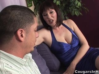 Mature Cougar Nailed Hard In Her Hairy Pussy