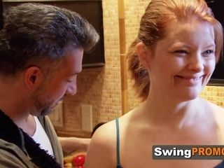 Swinger hubby has to eat and deep-throats
