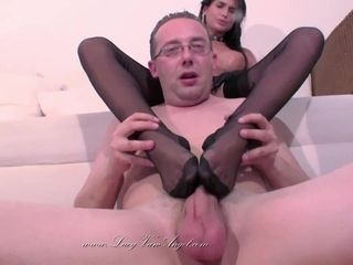 Nessa demon - soles And Nylon joy with mature boy