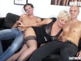 """CastingAllaItaliana - Slutty Granny DP And Anal On Casting - Amateur Euro"""