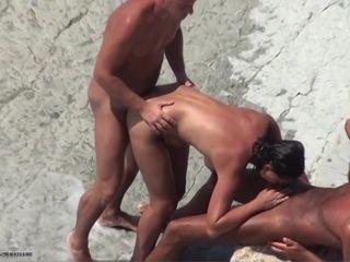 Bare beach sharing wifey