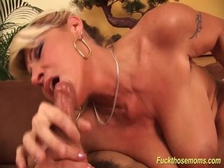 Big-titted mummy tough drilled by her toyboy