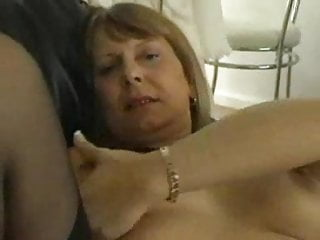 Mature Sandy masturbating at home