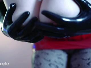 Gloves Latex Rubber Fetish. Long Opera Gloves. Full HD Hot BDSM Video of Arya Grander in PVC Corset