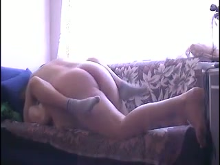 Chubby wife with really giant booty is so into riding her amateur hubby