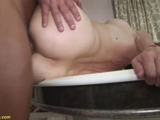 hairy 79 years old mom anal sex with stepson