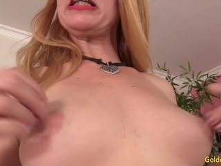 Mature sandy-haired Sable Renae ejaculates rock-hard After a Machine ruins Her gash