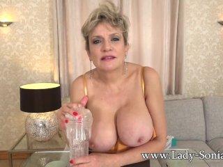 Big tit mature Lady Sonia wants to watch you wank