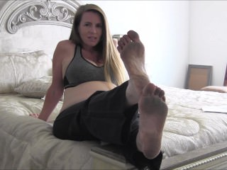 Pregnant MILF Nikki Makes You Her Foot Slave Part 2