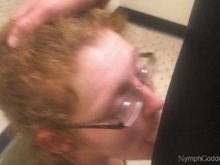 Ginger-haired cougar Ivy gargles husband off in a Public switching guest room CIM