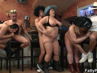 Plump tarts bang-out Orgy