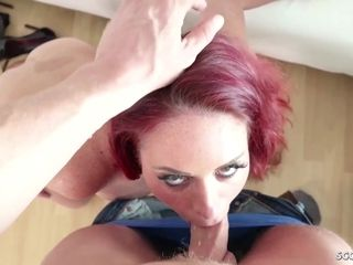 GERMAN SCOUT ginger-haired cougar STACEY DEEP rectal romp AT audition