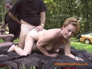 Two Grannies Have a Slutty Picnic Orgy continued