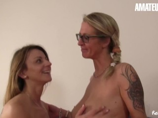 'ReifeSwinger - Sexy Mature German Share A Big Cock In Steamy FFM Threesome - AMATEUREURO'