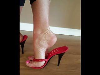 thong mules high heel sandals