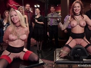 Honies obeying and copulating at domination & submission soiree