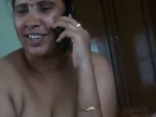 Chunky dark skin Mumbai prostitutes playing with one dick