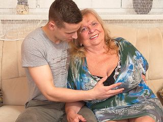 Huge boobed mama frolicking with her plaything dude