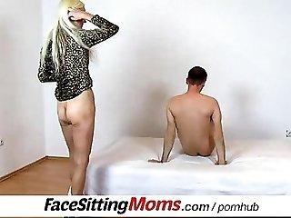 Dirty grandma facesitting a boy feat. Vera
