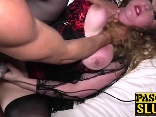 Drilled UK slut Kitten takes Pascal White and his cock hard