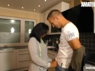"""""""AmateurEuro - Asian Wife Fucked On The Kitchen Table By a German Guy"""""""