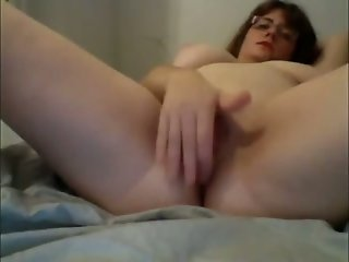 Busty mom fingering wet vagina in front of camera