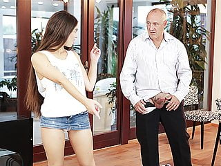 FatherDY4K. Cute father and youthful dame fuckfest completes with...