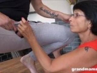 """Hot Milf and Old Granny Share 1 Cock"""