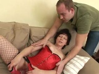 Naughty Granny Gets Her Hairy Twat Hump